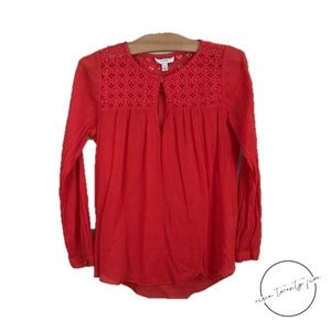 J.Crew Embroidered Gauze Tunic Cotton Long Sleeve